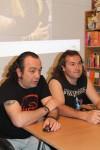 Justo Urbano (Trasgu Rock) y David Calderon, en la introduccion. Foto: Rockcultura Web Site
