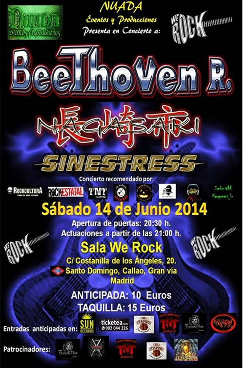 Beethoven r celebrar su 15 aniversario en la sala we rock for Sala we rock