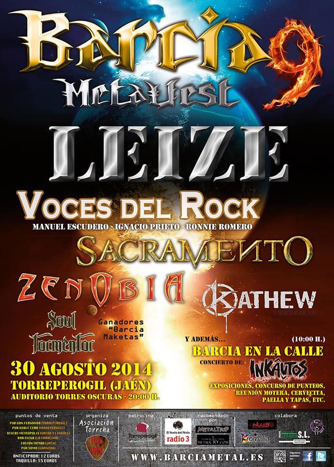 Cartel Barcia Metalfest 2014