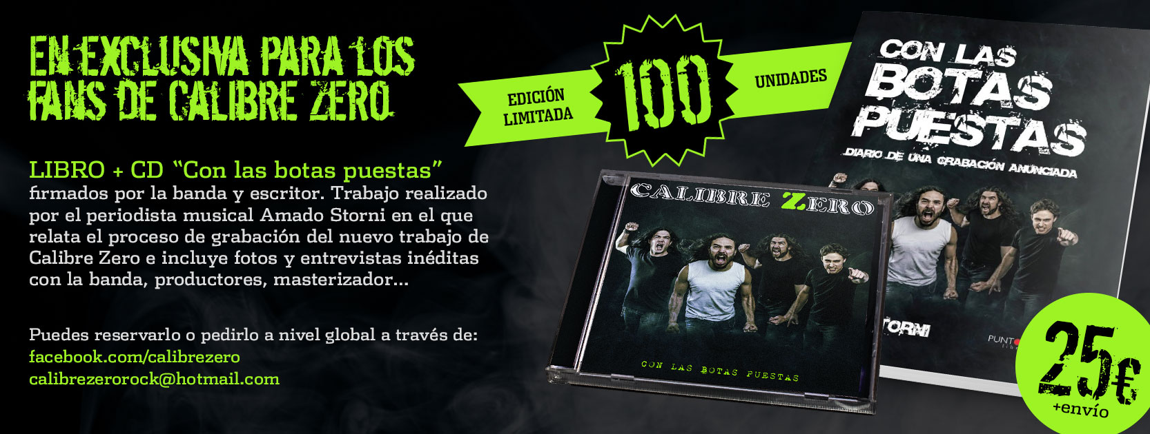 LIBRO + CD CALIBRE ZERO