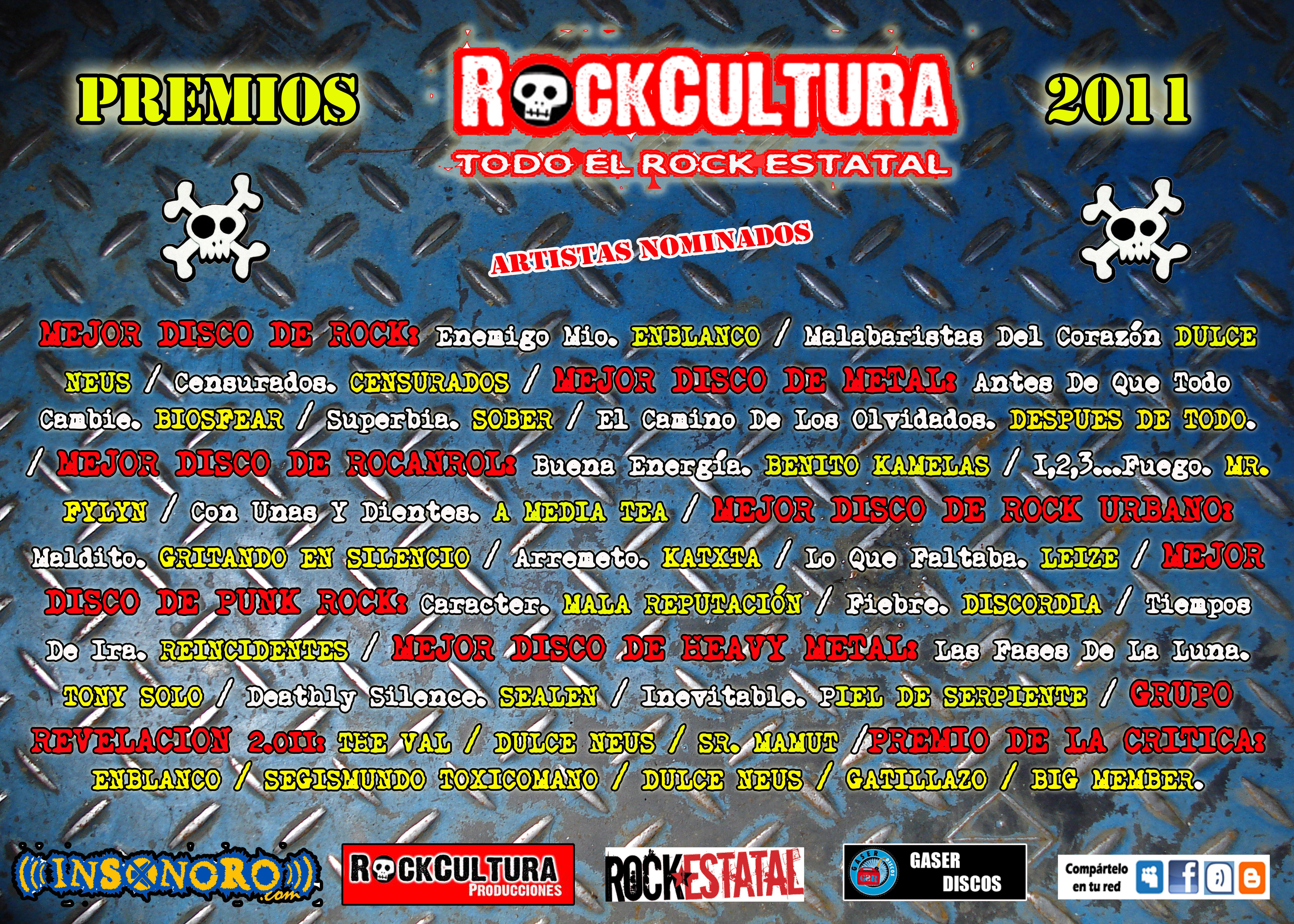 PREMIOS ROCKCULTURA 2011