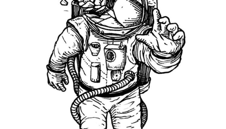 Ilustración-Astronauta